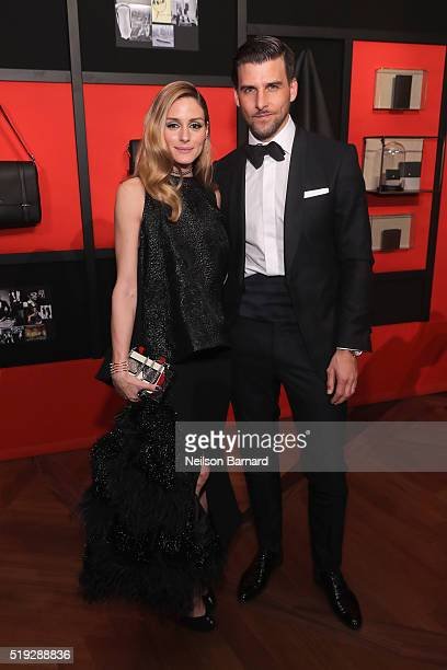 Olivia Palermo and Johannes Huebl attend the Montblanc 110 Year Anniversary Gala Dinner on April 5 2016 in New York City