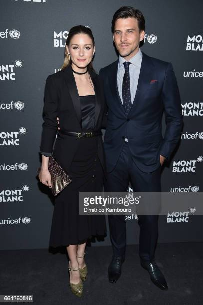 Olivia Palermo and Johannes Huebl attend the Montblanc UNICEF Gala Dinner at the New York Public Library on April 3 2017 in New York City