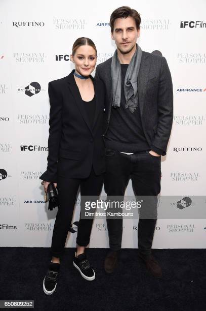 Olivia Palermo and Johannes Huebl attend the 'Personal Shopper' premiere at Metrograph on March 9 2017 in New York City