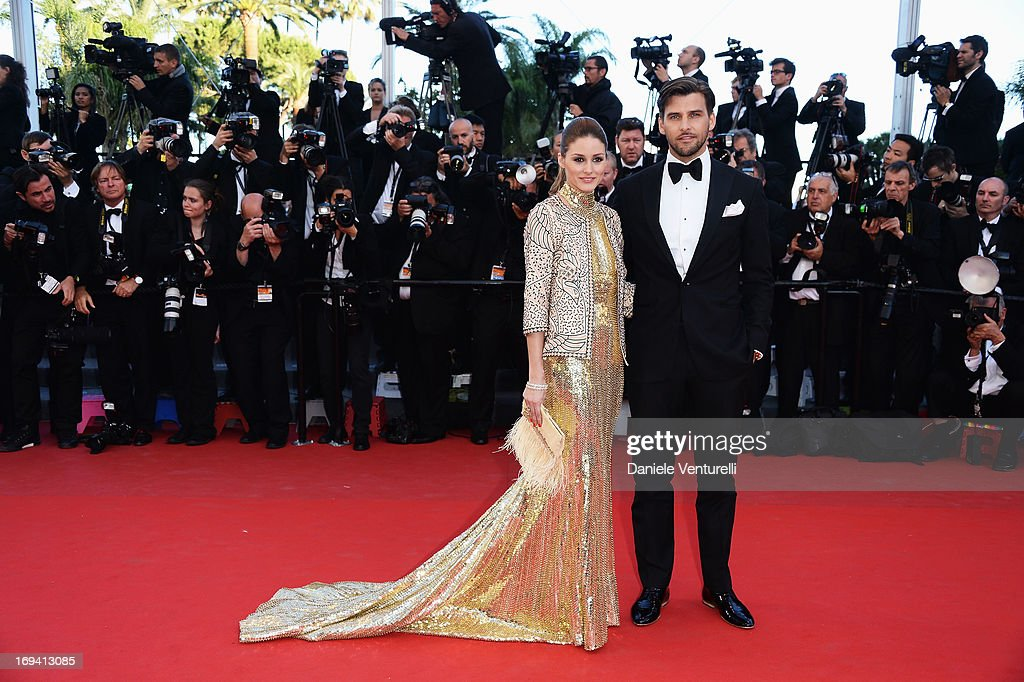 Olivia Palermo and Johannes Huebl attend the Premiere of 'The Immigrant' at The 66th Annual Cannes Film Festival at Palais des Festivals on May 24, 2013 in Cannes, France.