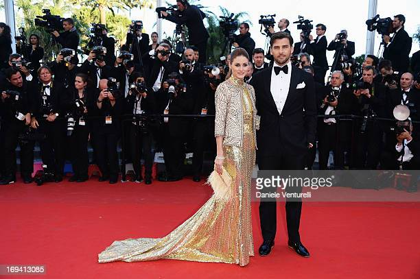 Olivia Palermo and Johannes Huebl attend the Premiere of 'The Immigrant' at The 66th Annual Cannes Film Festival at Palais des Festivals on May 24...