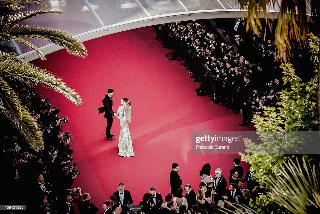 Olivia Palermo and Johannes Huebl attend the 'The Immigrant' premiere during The 66th Annual Cannes Film Festival at the Palais des Festivals on May 24, 2013 in Cannes, France.