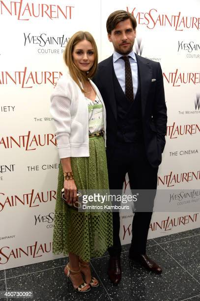 Olivia Palermo and Johannes Huebl attend The Weinstein Company's 'Yves Saint Laurent' premiere hosted by Yves Saint Laurent Couture Palette The...