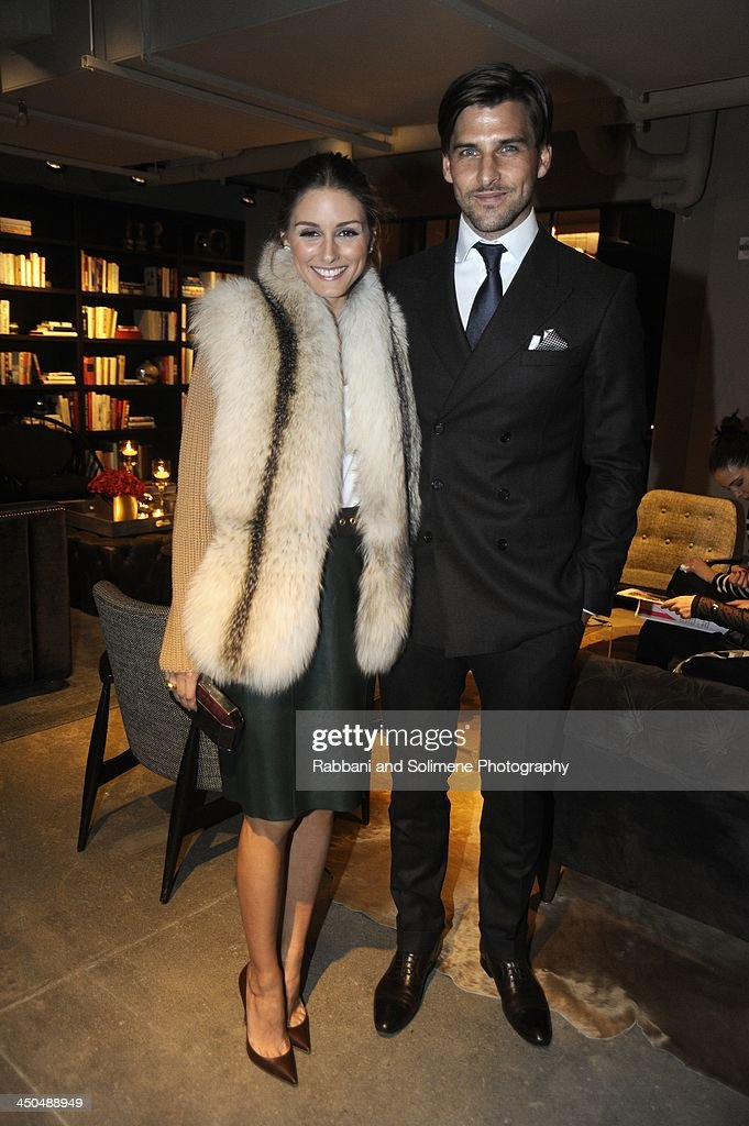Olivia Palermo and Johannes Huebl attends a cocktail party in honor of Salvatore Ferragamo's Short Film at Neuehouse on November 6, 2013 in New York City.