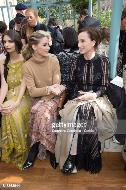 Olivia Palermo and Kristin Scott Thomas attends the Valentino show as part of the Paris Fashion Week Womenswear Fall/Winter 2017/2018 on March 5 2017...