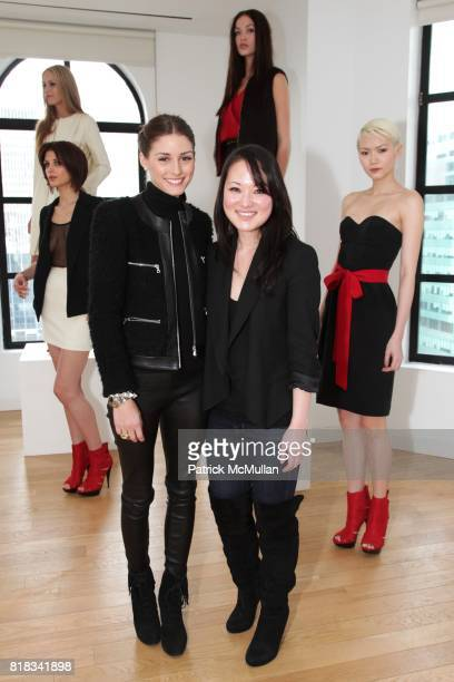 Olivia Palermo and Susan Woo attend SUSAN WOO F/W 2010 Presentation supported by Belvedere at Bryant Park Hotel on February 13 2010 in New York City