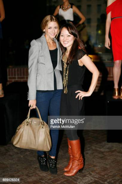Olivia Palermo and Susan Woo attend SUSAN WOO Spring/Summer 2010 Collection with Jewelry by Lulu Frost at Hudson Hotel on September 12 2009 in New...
