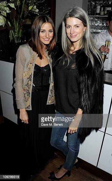 Olivia Palermo and Vogue fashion features writer Sarah Harris attend a private dinner hosted by Joseph CEO Sara Ferrero and fashion editor Daniela...