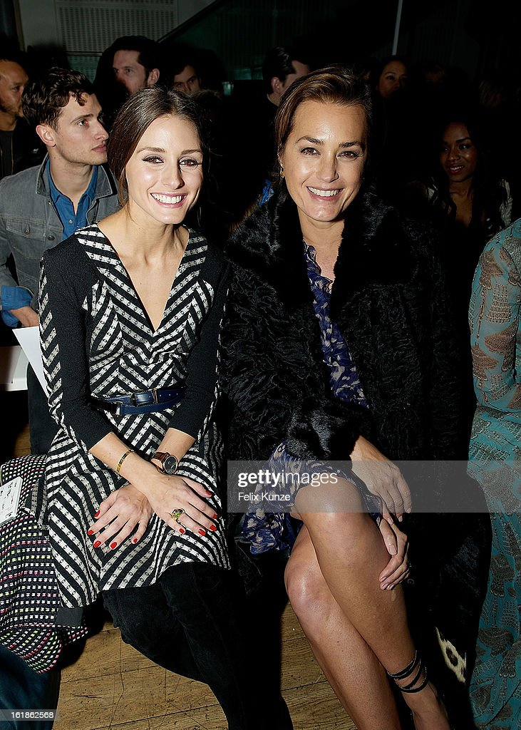 <a gi-track='captionPersonalityLinkClicked' href=/galleries/search?phrase=Olivia+Palermo&family=editorial&specificpeople=2639086 ng-click='$event.stopPropagation()'>Olivia Palermo</a> (L) and Yasmin Le Bon attend the Matthew Williamson show during London Fashion Week Fall/Winter 2013/14 on February 17, 2013 in London, England.