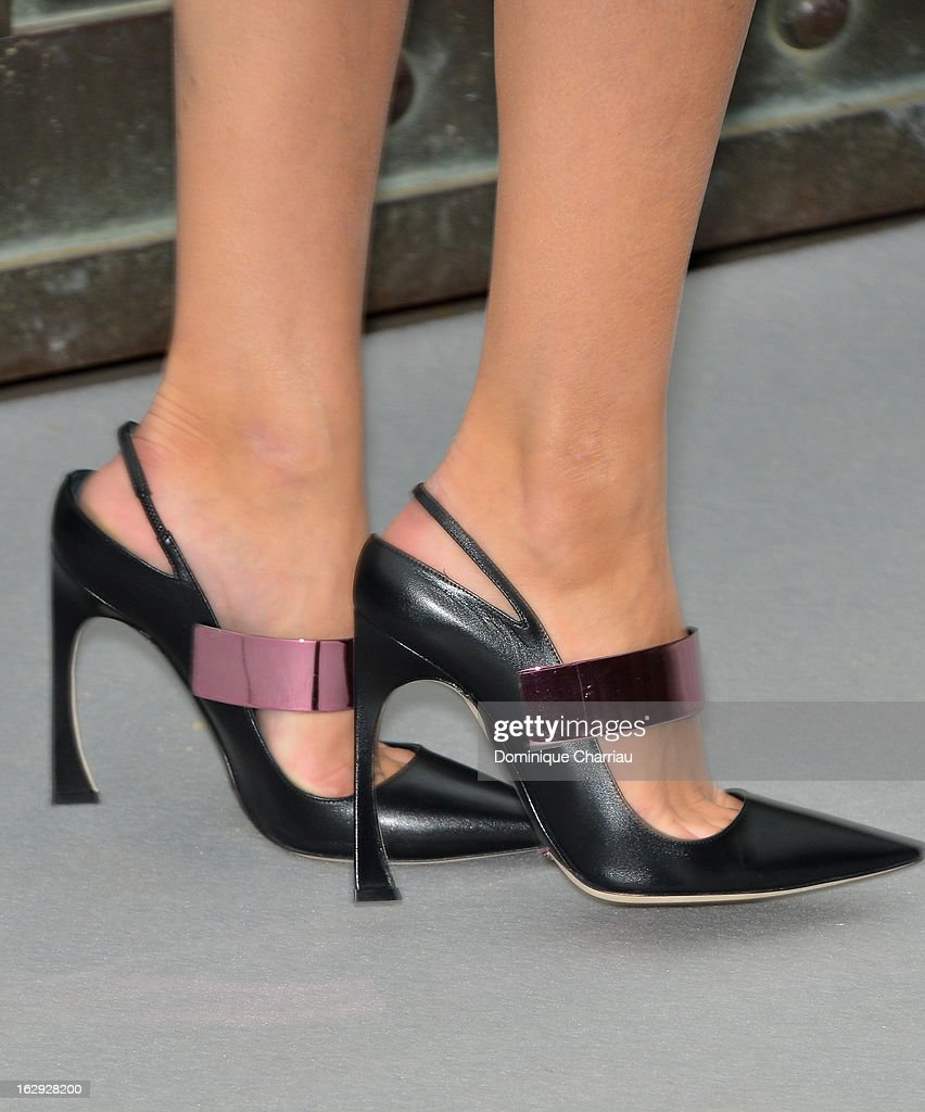 Olivia Palermo ( shoe Detail ) arrives at the Christian Dior Fall/Winter 2013 Ready-to-Wear show as part of Paris Fashion Week on March 1, 2013 in Paris, France.