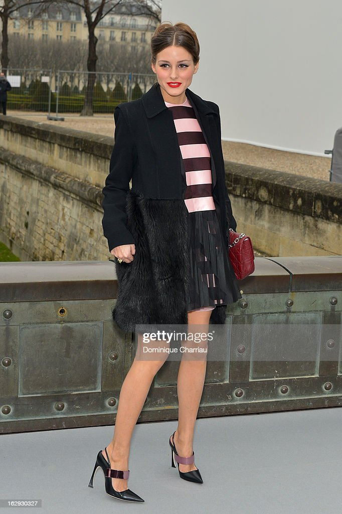 Olivia Palermo arrives at the Christian Dior Fall/Winter 2013 Ready-to-Wear show as part of Paris Fashion Week on March 1, 2013 in Paris, France.