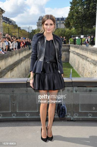 Olivia Palermo arrives at the Christian Dior Spring / Summer 2013 show as part of Paris Fashion Week on September 28 2012 in Paris France