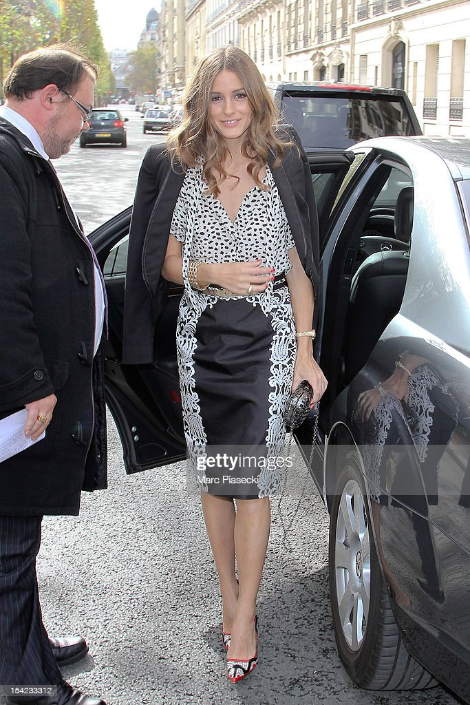 Olivia Palermo arrives at the Montblanc Exclusive Luncheon Masters for Meisterstuck L'Aubrac Collection Launch on October 16 2012 in Paris France
