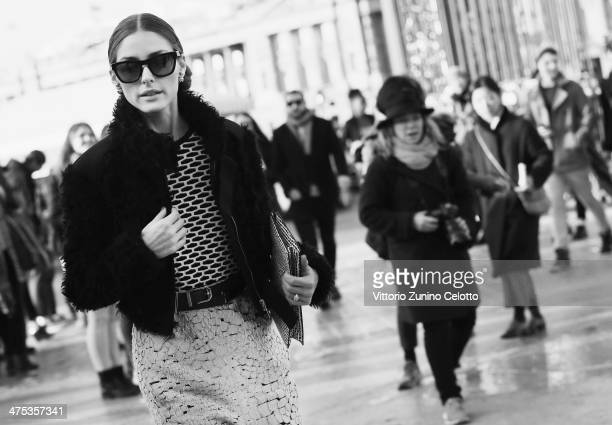Olivia Palermo arrives at the Nina Ricci show as part of the Paris Fashion Week Womenswear Fall/Winter 20142015 on February 27 2014 in Paris France