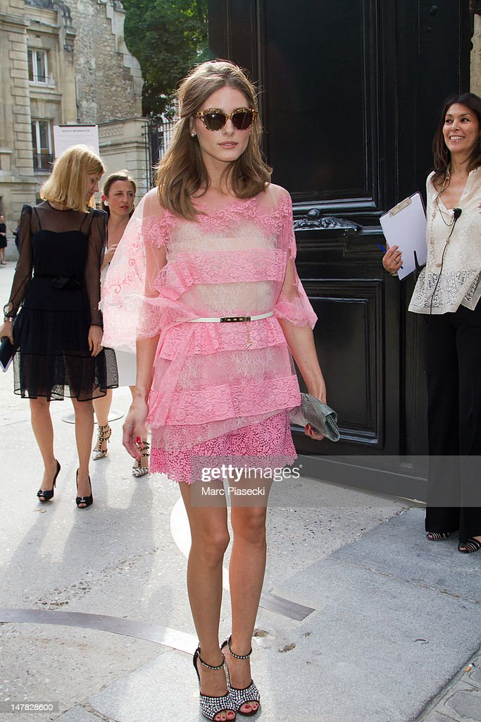 Olivia Palermo arrives for the Valentino HauteCouture Show as part of Paris Fashion Week Fall / Winter 2013 at Hotel Salomon de Rothschild on July 4...