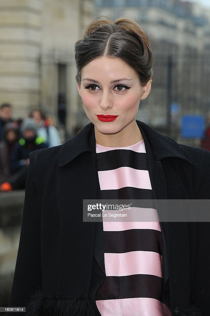 Olivia Palermo arrives to attend the Christian Dior Fall/Winter 2013 Ready-to-Wear show as part of Paris Fashion Week on March 1, 2013 in Paris, France.