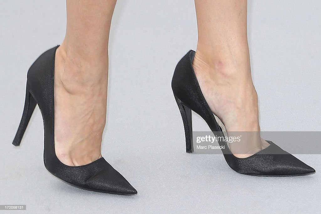 Olivia Palermo (shoe detail) arrives to attend the Christian Dior show as part of Paris Fashion Week Haute Couture Fall/Winter 2013-2014 at on July 1, 2013 in Paris, France.