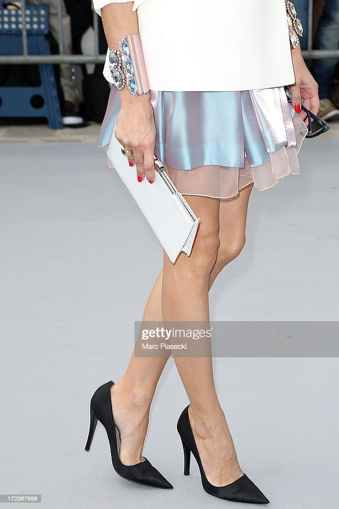 Olivia Palermo (clutch bag detail) arrives to attend the Christian Dior show as part of Paris Fashion Week Haute Couture Fall/Winter 2013-2014 at on July 1, 2013 in Paris, France.