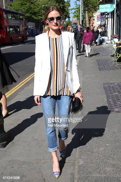 Olivia Palermo arriving at the Jimmy Choo party at The Ivy Chelsea Garden on May 21 2015 in London England