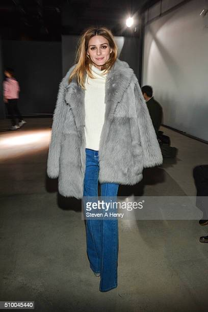 Olivia Palermo attend the Tibi Fall 2016 at Skylight 60 Tenth on February 13 2016 in New York City