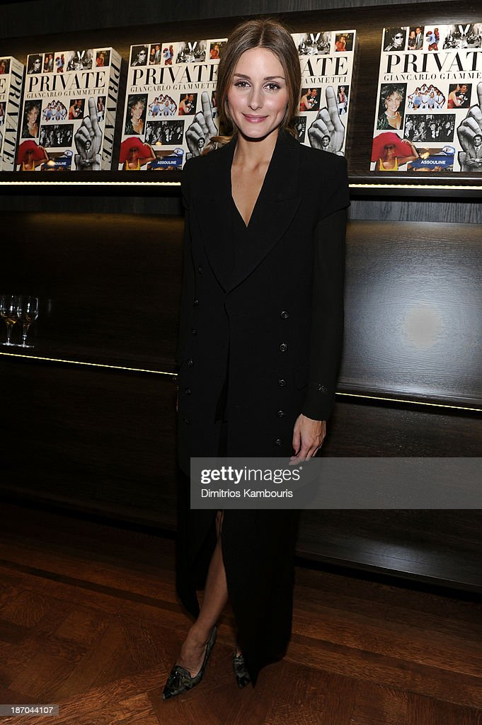 <a gi-track='captionPersonalityLinkClicked' href=/galleries/search?phrase=Olivia+Palermo&family=editorial&specificpeople=2639086 ng-click='$event.stopPropagation()'>Olivia Palermo</a> attends a book signing for Giancarlo Giammetti's Autobiography 'Private Giancarlo Giammetti,' hosted by Martine and Prosper Assouline at Assouline Boutique at The Plaza Hotel on November 5, 2013 in New York City.
