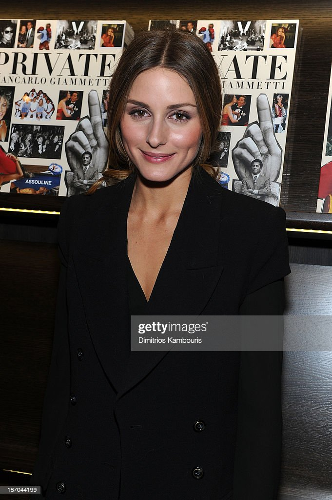 Olivia Palermo attends a book signing for Giancarlo Giammetti's Autobiography 'Private Giancarlo Giammetti,' hosted by Martine and Prosper Assouline at Assouline Boutique at The Plaza Hotel on November 5, 2013 in New York City.