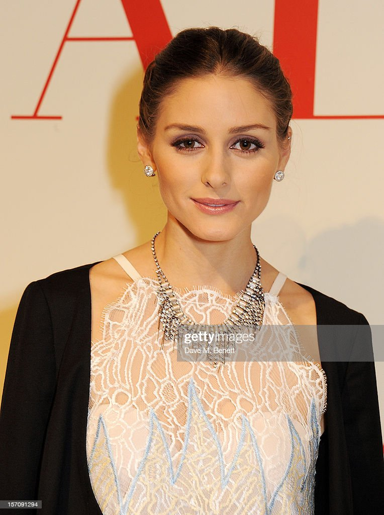 Olivia Palermo attends a private view of 'Valentino: Master Of Couture', exhibiting from November 29th, 2012 - March 3, 2013, at Somerset House on November 28, 2012 in London, England.