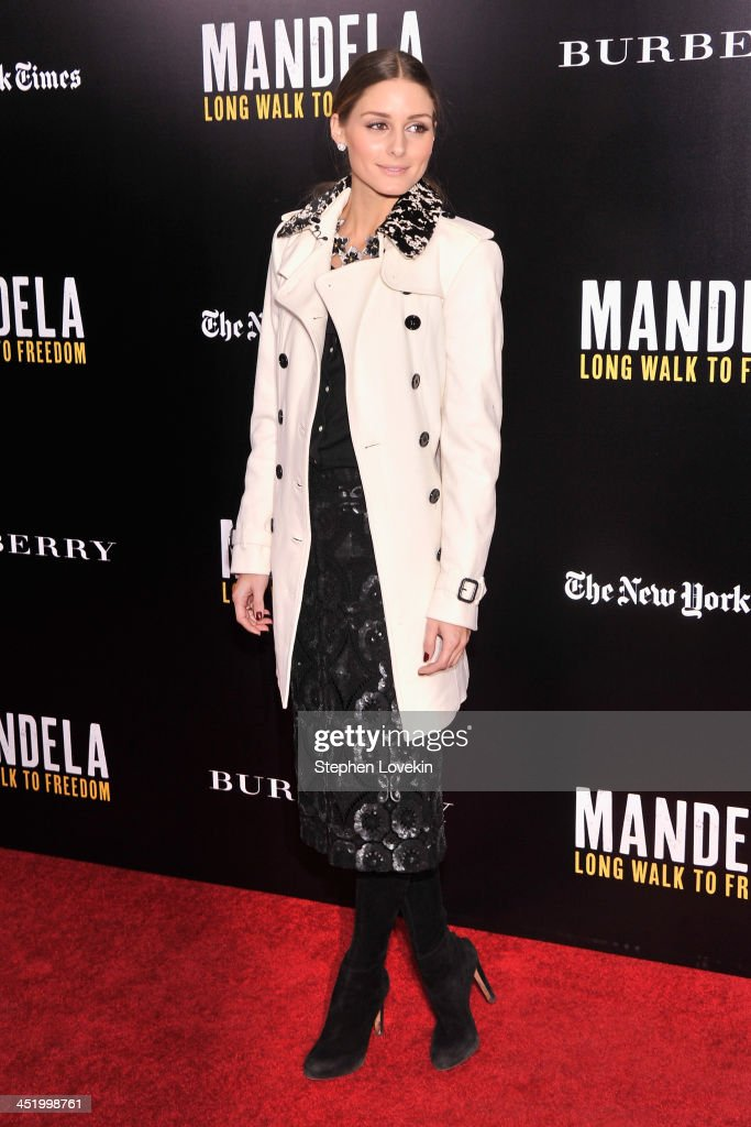 <a gi-track='captionPersonalityLinkClicked' href=/galleries/search?phrase=Olivia+Palermo&family=editorial&specificpeople=2639086 ng-click='$event.stopPropagation()'>Olivia Palermo</a> attends a screening of 'Mandela: Long Walk to Freedom', hosted by U2, Anna Wintour and Bob & Harvey Weinstein, with Burberry at the Ziegfeld Theater on November 25, 2013 in New York City.