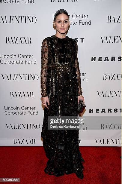 Olivia Palermo attends an evening honoring Valentino at Lincoln Center Corporate Fund Black Tie Gala on December 7 2015 in New York City