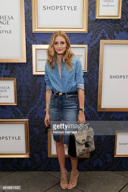 Olivia Palermo attends an exclusive preview of the Marchesa Voyage for ShopStyle collection on September 5 2014 in New York City
