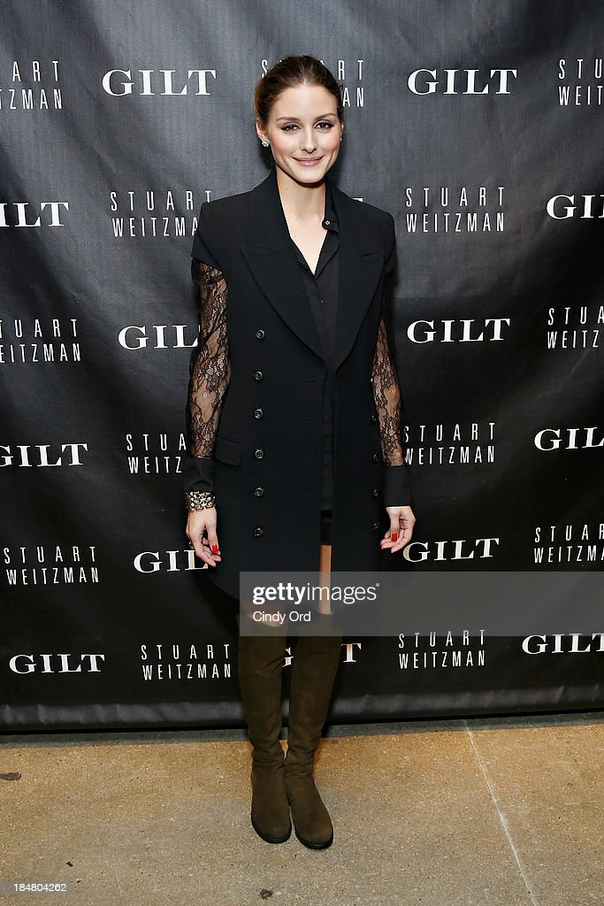 <a gi-track='captionPersonalityLinkClicked' href=/galleries/search?phrase=Olivia+Palermo&family=editorial&specificpeople=2639086 ng-click='$event.stopPropagation()'>Olivia Palermo</a> attends as Gilt And Stuart Weitzman celebrate the 5050 Boot 20th anniversary on October 16, 2013 in New York City.