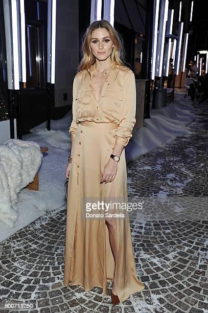 Olivia Palermo attends Audemars Piguet Celebrates the opening of Audemars Piguet Rodeo Drive at Audemars Piguet on December 9 2015 in Beverly Hills...