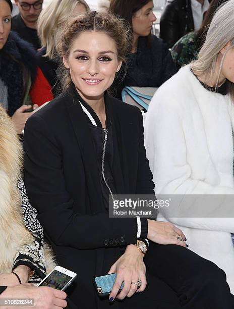 Olivia Palermo attends Delpozo during Fall 2016 New York Fashion Week at Pier 59 Studios on February 17 2016 in New York City