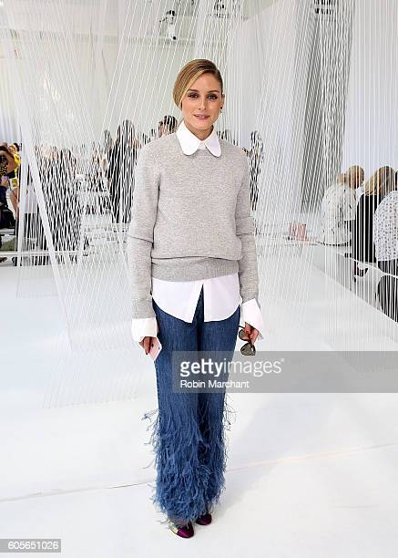 Olivia Palermo attends Delpozo Front Row September 2016 during New York Fashion Week at Pier 59 Studios on September 14 2016 in New York City