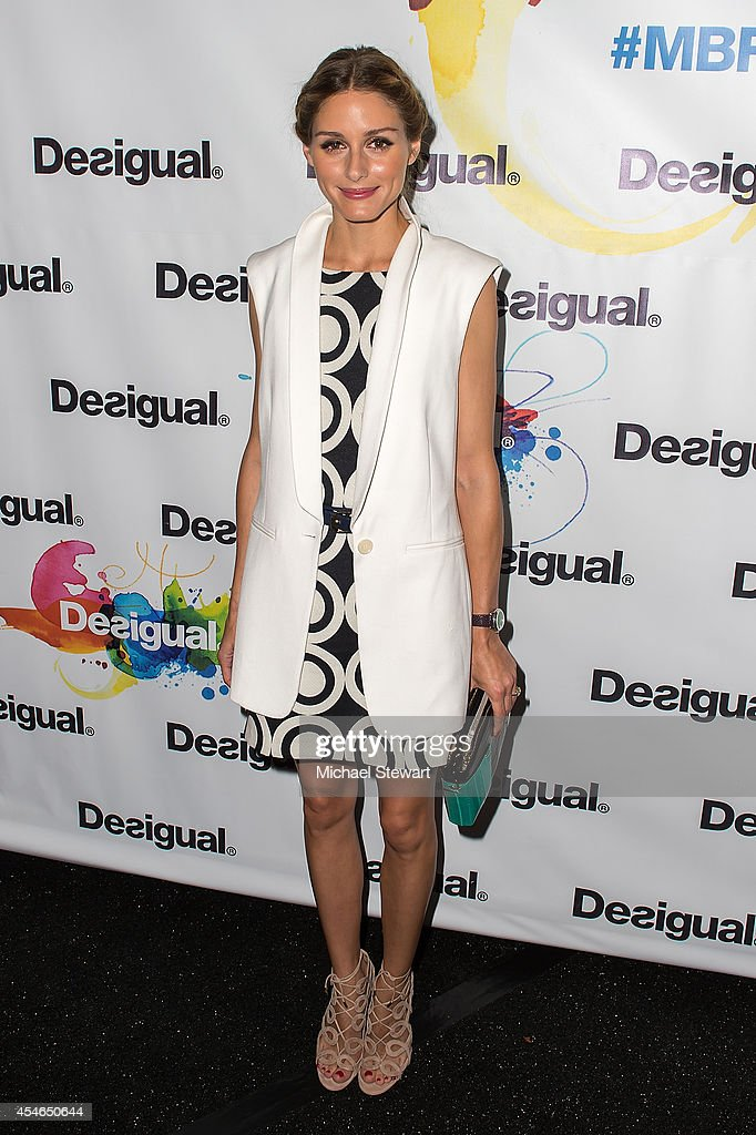 Olivia Palermo attends Desigual during MercedesBenz Fashion Week Spring 2015 at The Theatre at Lincoln Center on September 4 2014 in New York City