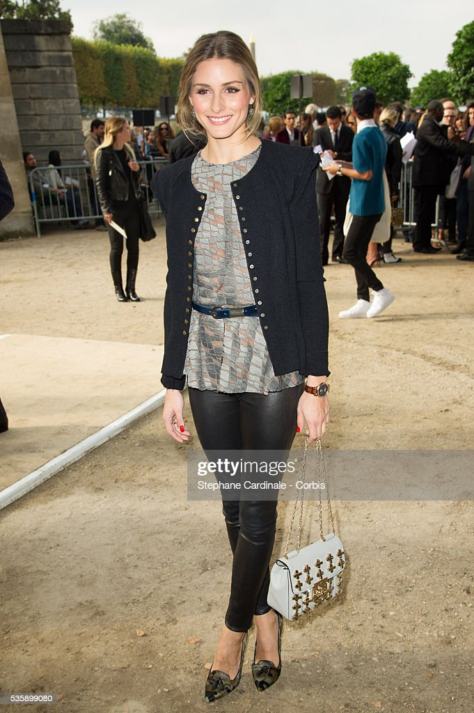 Olivia Palermo attends Elie Saab show, as part of the Paris Fashion Week Womenswear Spring/Summer 2014, in Paris.