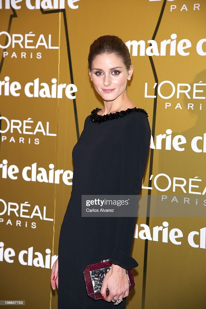 <a gi-track='captionPersonalityLinkClicked' href=/galleries/search?phrase=Olivia+Palermo&family=editorial&specificpeople=2639086 ng-click='$event.stopPropagation()'>Olivia Palermo</a> attends Marie Claire Prix de la Moda Awards 2012 at the French Embassy on November 22, 2012 in Madrid, Spain.