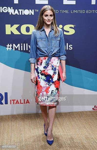 Olivia Palermo attends Milly For DesigNation Collection Launch at Isola Trattoria Crudo Bar on April 22 2015 in New York City