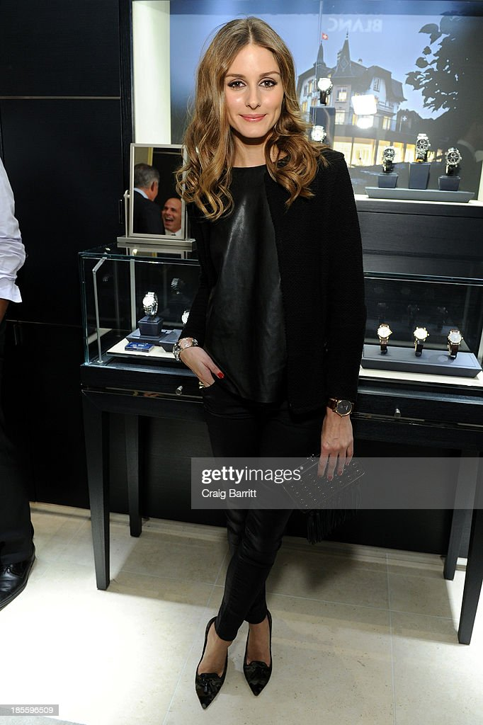 <a gi-track='captionPersonalityLinkClicked' href=/galleries/search?phrase=Olivia+Palermo&family=editorial&specificpeople=2639086 ng-click='$event.stopPropagation()'>Olivia Palermo</a> attends Montblanc celebrates Madison Avenue Boutique Opening at Montblanc Boutique on Madison Avenue on October 22, 2013 in New York City.