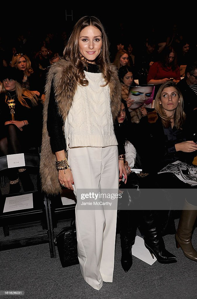 Olivia Palermo attends Rachel Zoe during Fall 2013 Mercedes-Benz Fashion Week at The Studio at Lincoln Center on February 13, 2013 in New York City.