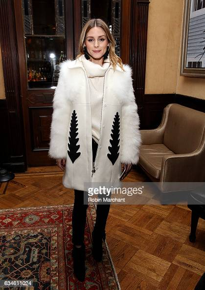 Olivia Palermo attends Sachin Babi Front Row during New York Fashion Week at The National Arts Club on February 10 2017 in New York City