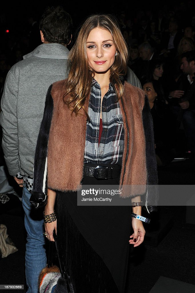 Olivia Palermo attends the 2013 Victoria's Secret Fashion Show at Lexington Avenue Armory on November 13, 2013 in New York City.