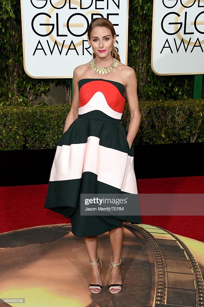 <a gi-track='captionPersonalityLinkClicked' href=/galleries/search?phrase=Olivia+Palermo&family=editorial&specificpeople=2639086 ng-click='$event.stopPropagation()'>Olivia Palermo</a> attends the 73rd Annual Golden Globe Awards held at the Beverly Hilton Hotel on January 10, 2016 in Beverly Hills, California.