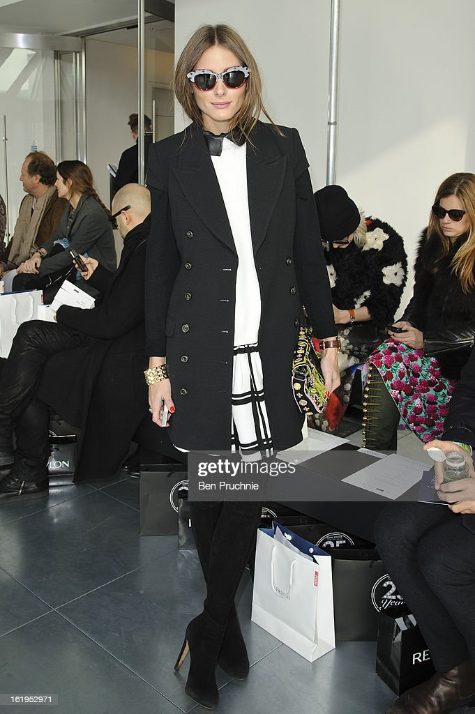 Olivia Palermo attends the Antonio Berardi show during London Fashion Week Fall/Winter 2013/14 at on February 18, 2013 in London, England.