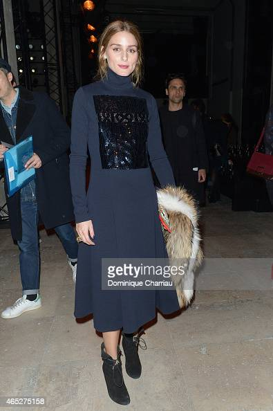 Olivia Palermo attends the Barbara Bui show as part of the Paris Fashion Week Womenswear Fall/Winter 2015/2016 on March 5 2015 in Paris France