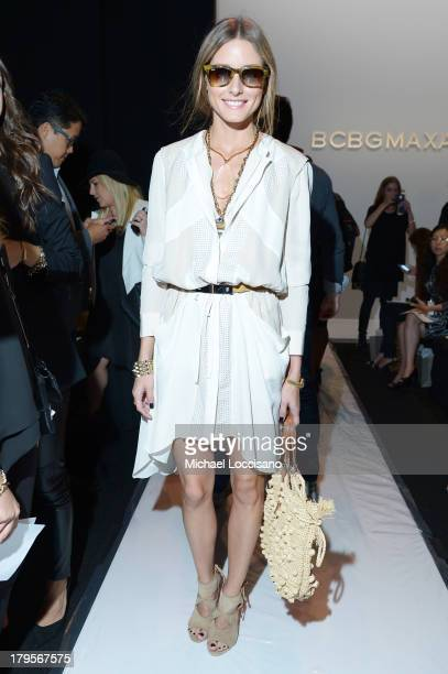Olivia Palermo attends the BCBGMAXAZRIA Spring 2014 fashion show during MercedesBenz Fashion Week at The Theatre at Lincoln Center on September 5...