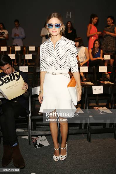 Olivia Palermo attends the Bibhu Mohapatra fashion show during MercedesBenz Fashion Week Spring 2014 at The Studio at Lincoln Center on September 11...