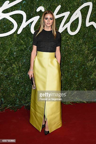 Olivia Palermo attends the British Fashion Awards at London Coliseum on December 1 2014 in London England