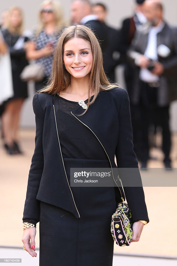 <a gi-track='captionPersonalityLinkClicked' href=/galleries/search?phrase=Olivia+Palermo&family=editorial&specificpeople=2639086 ng-click='$event.stopPropagation()'>Olivia Palermo</a> attends the Burberry Prorsum show at London Fashion Week SS14 at Kensington Gardens on September 16, 2013 in London, England.