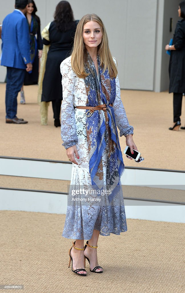 Olivia Palermo attends the Burberry Prorsum show during London Fashion Week Spring Summer 2015 on September 15 2014 in London England